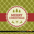 Plaid Christmas Vector Card