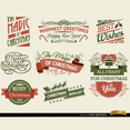 8 Christmas Ribbons and Label Vectors
