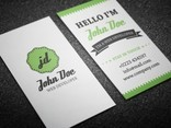 Vector Retro Personal Business Card