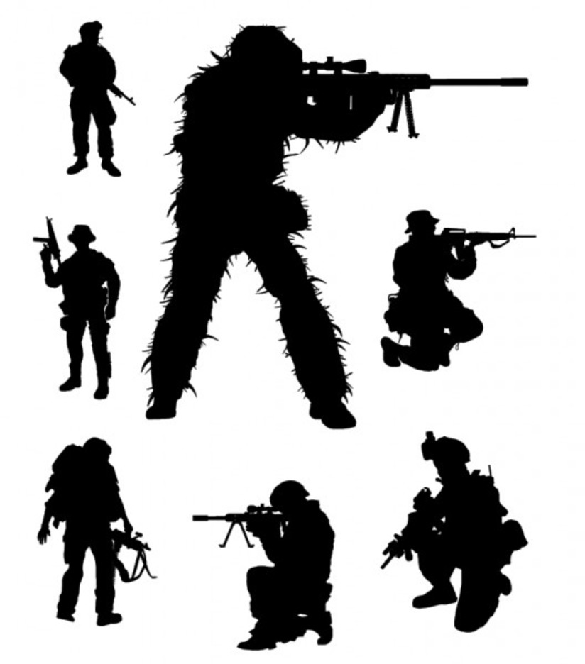 Vector Soldier Silhouettes