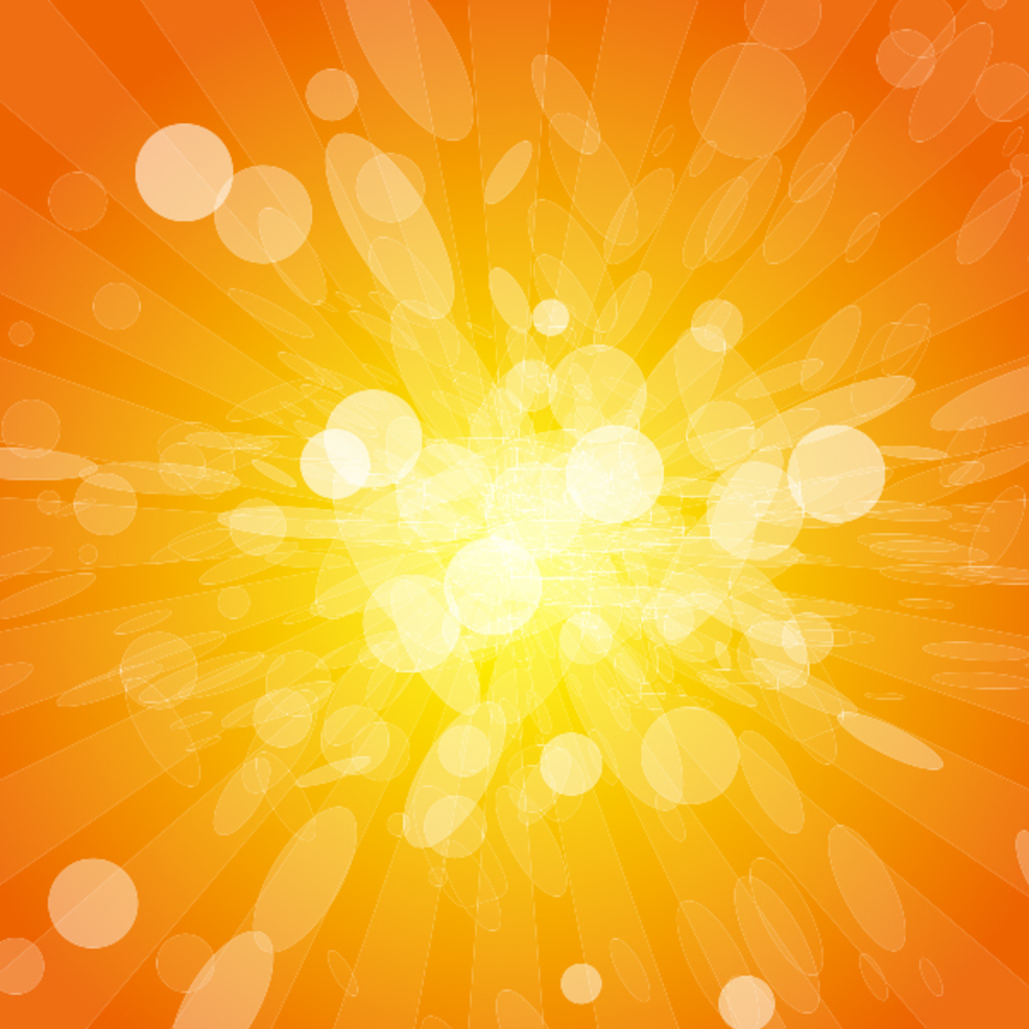 Orange Lights Vector Background