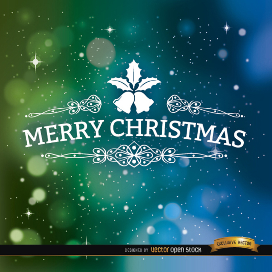 Space Bokeh Merry Christmas Vector Background