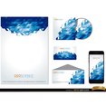 Blue Abstract Stationery Vector Set