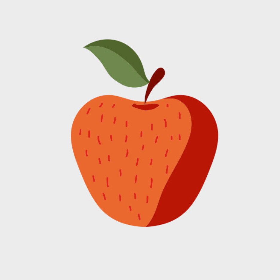 Cute Free Vector Apple