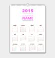 2015 Vector Calendar