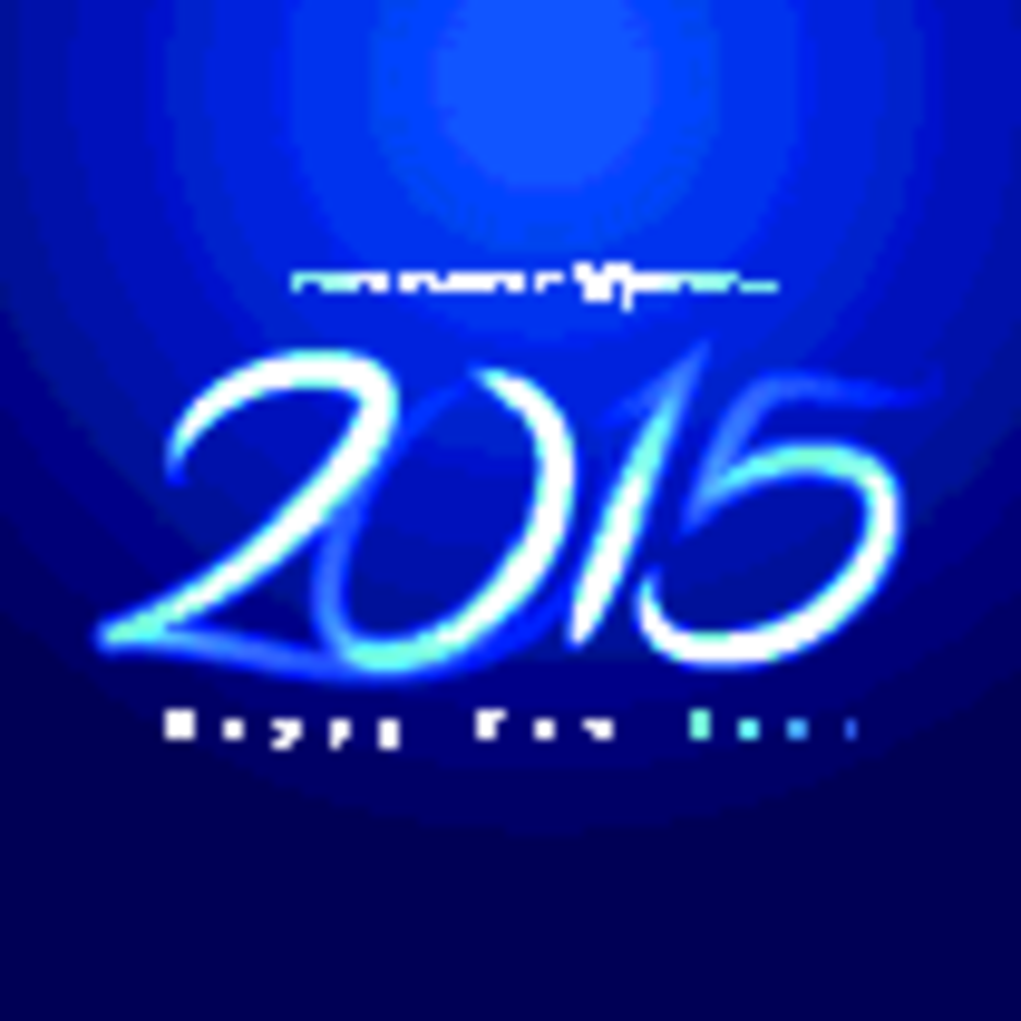 Glowing 2015 New Year Free Vector