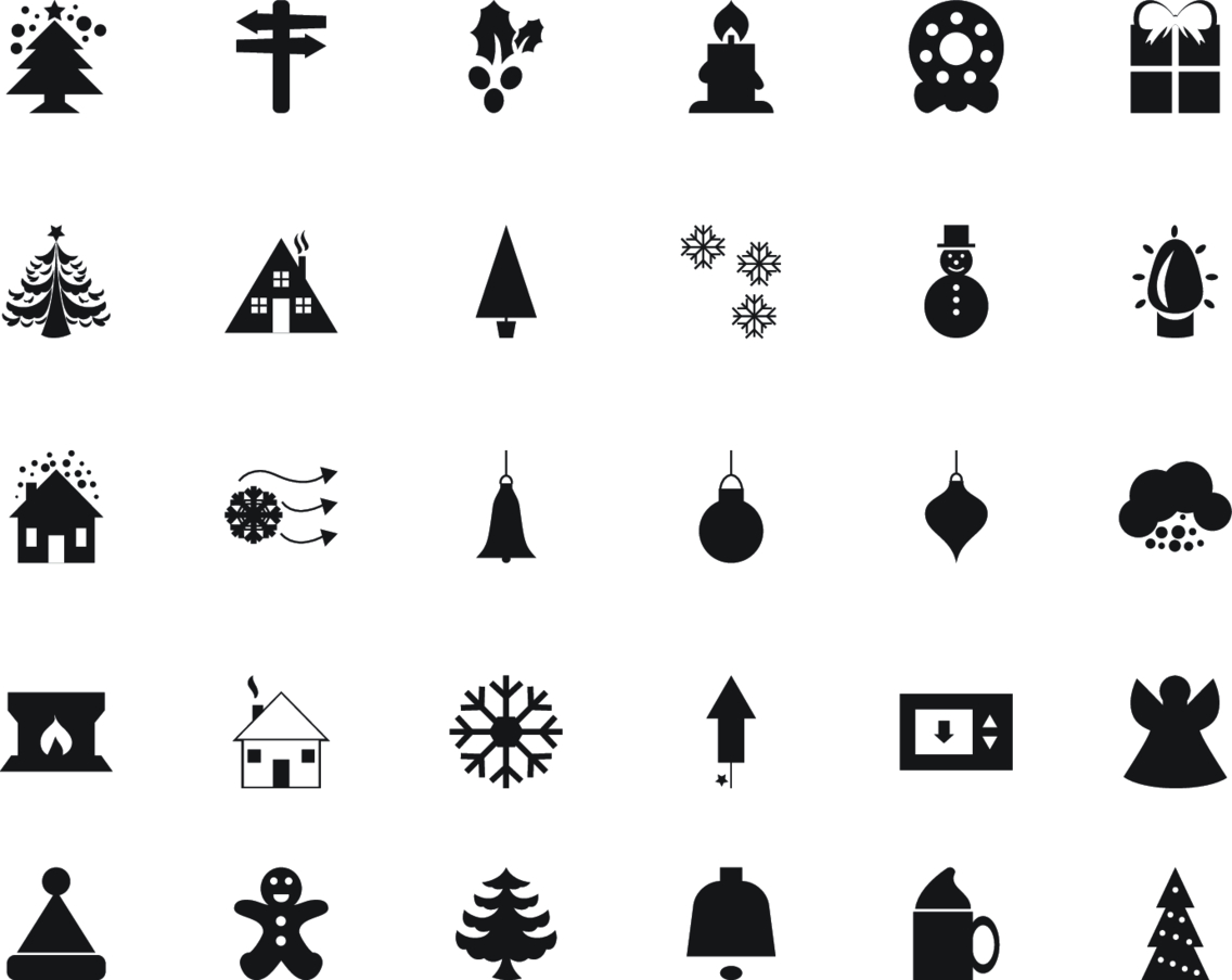 30 Christmas Vector Icons