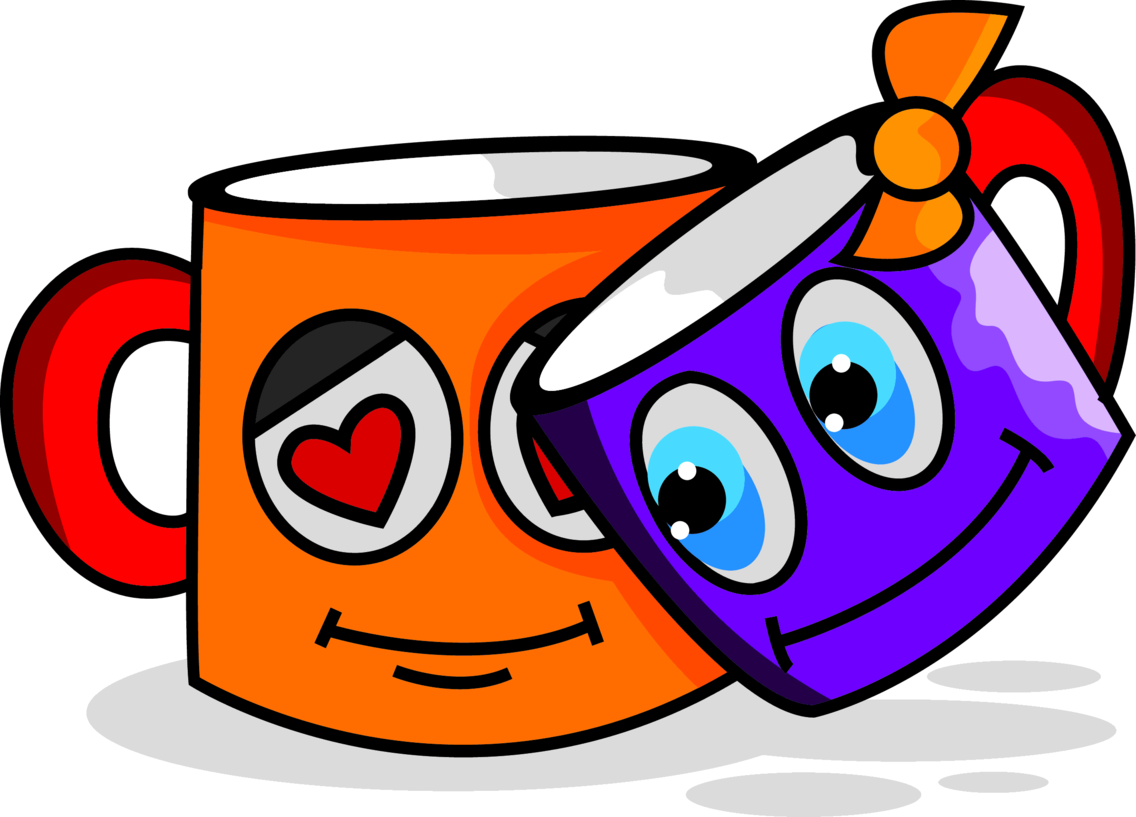 Valentines Day Cup Love Cartoon Character