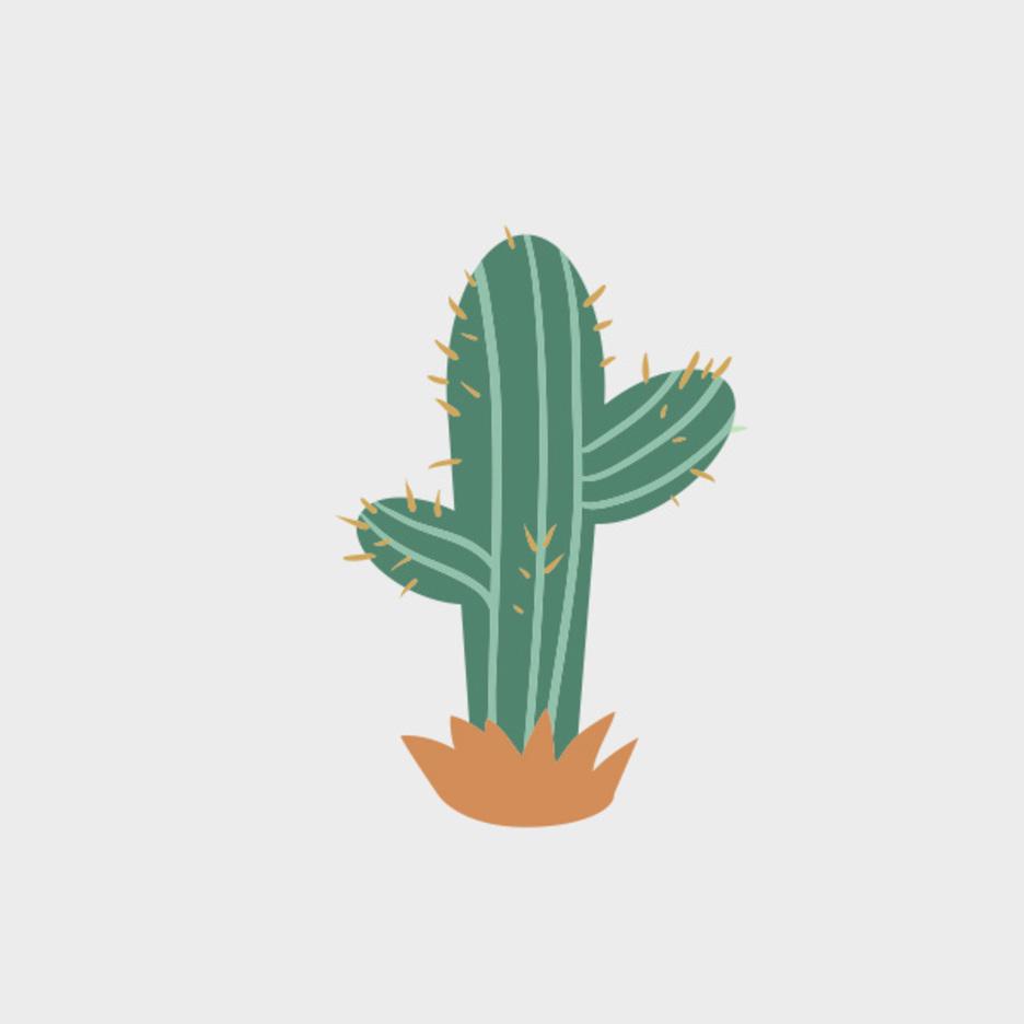 Cute Free Vector Cactus
