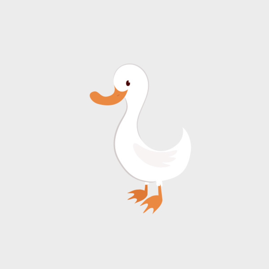 Cute Free Vector Duck