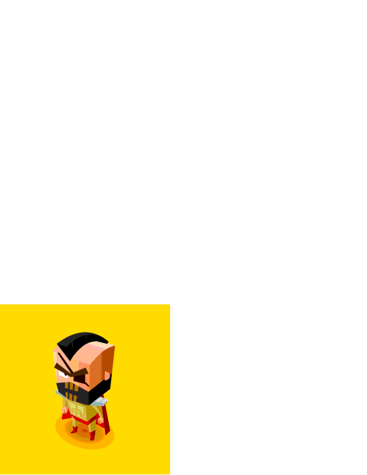 Evil Mind Vector Character Illustration