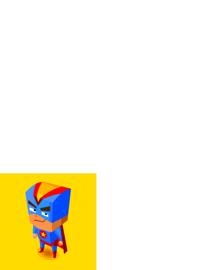 Free Vector Blue Superhero Illustration