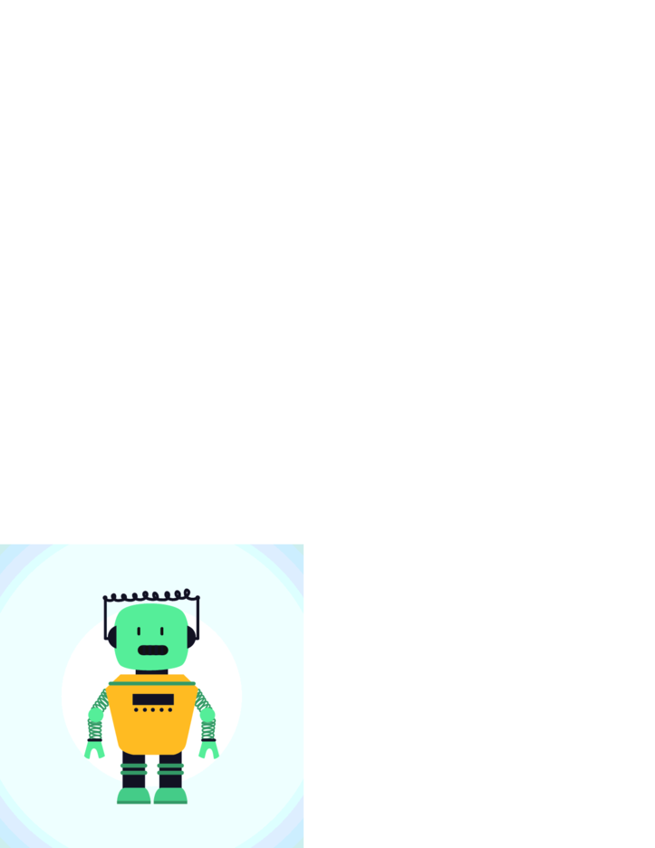 Free Drawn Robot Vector Character