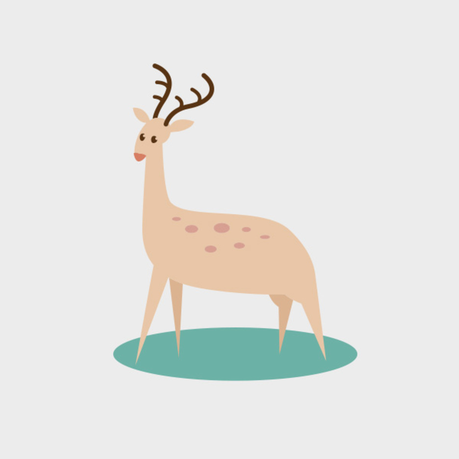 Cute Vector Deer