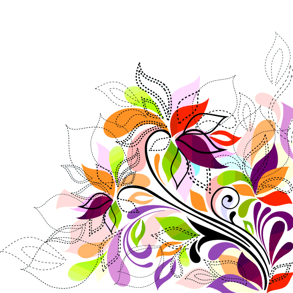 Free Swirly Colorful Floral Vector