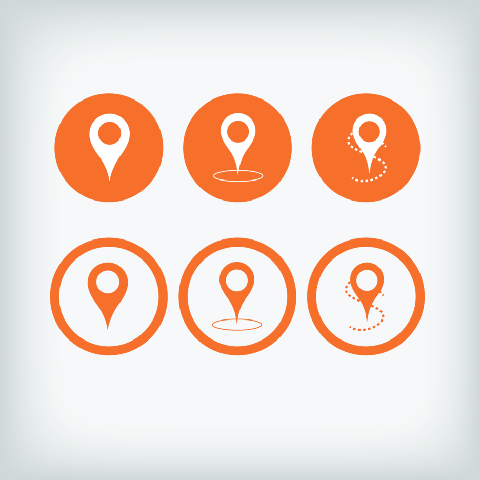 Free Orange Pointer Vector Icons