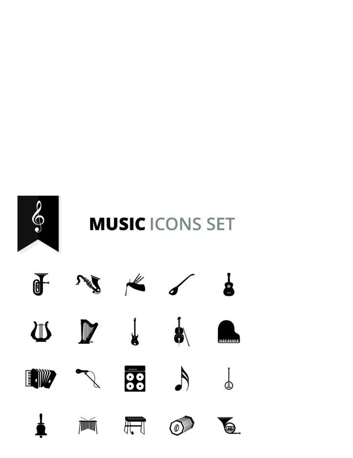 Free Vector Music Icons Set