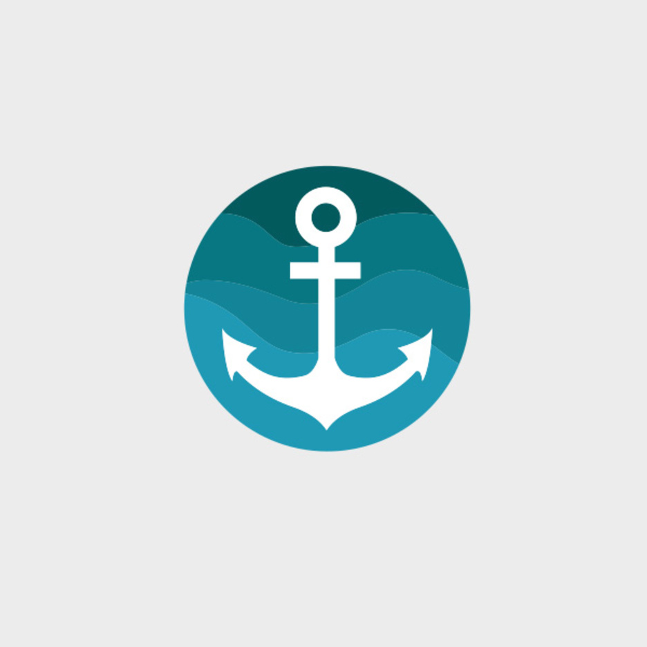 Free Vector Blue Anchor