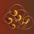 Free Brown Swirl Vector Ornament