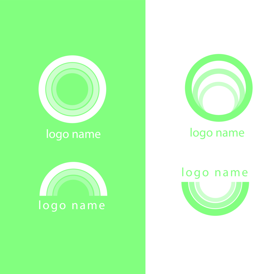 Free Modern Green Circle Logo Vectors