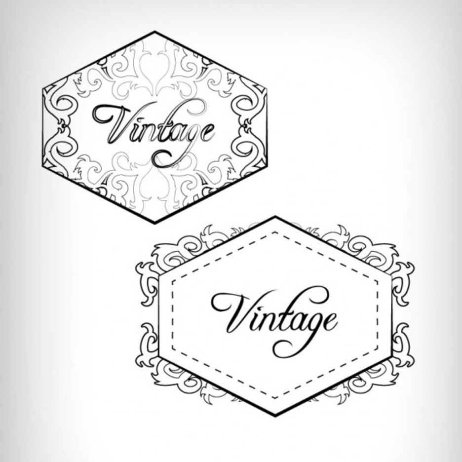 Vintage Label and Badge Design Vectors
