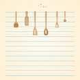 Free Vintage Recipe Card Vector