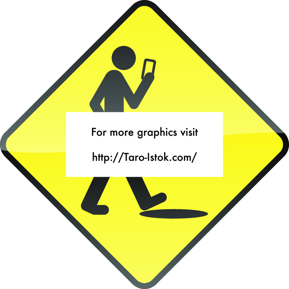 Smart Phone, Stupid Human Sign Vector