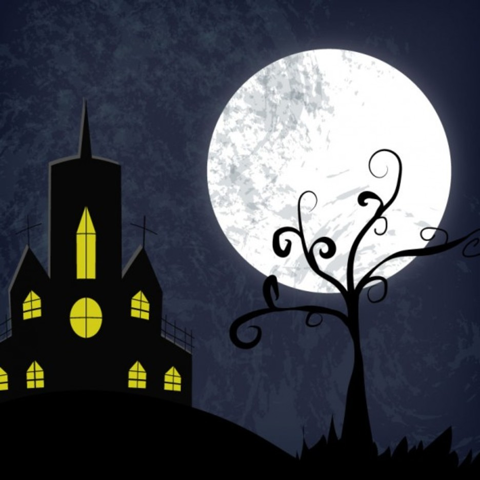 Free Vector Halloween Haunted House