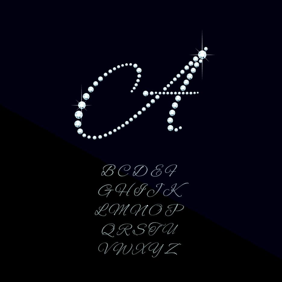 Diamond Letter Vectors
