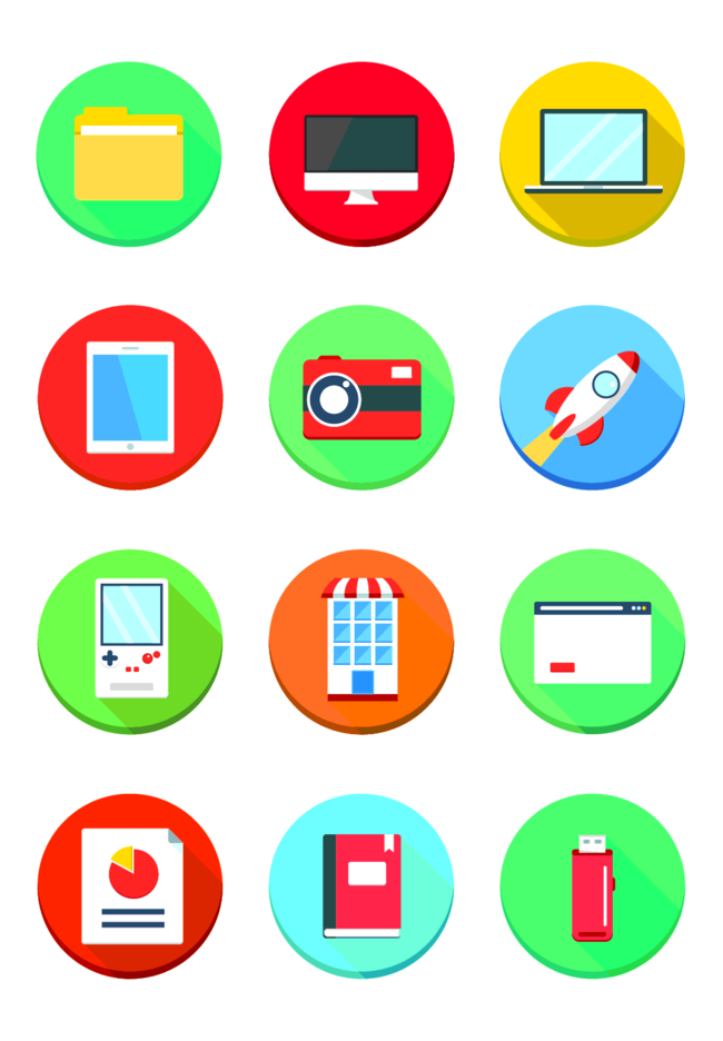 Free Vector Flat Web Icon Pack