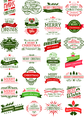 Free Vector Christmas Badge Set
