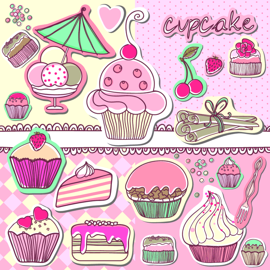 Cute Cupcake Vector Art