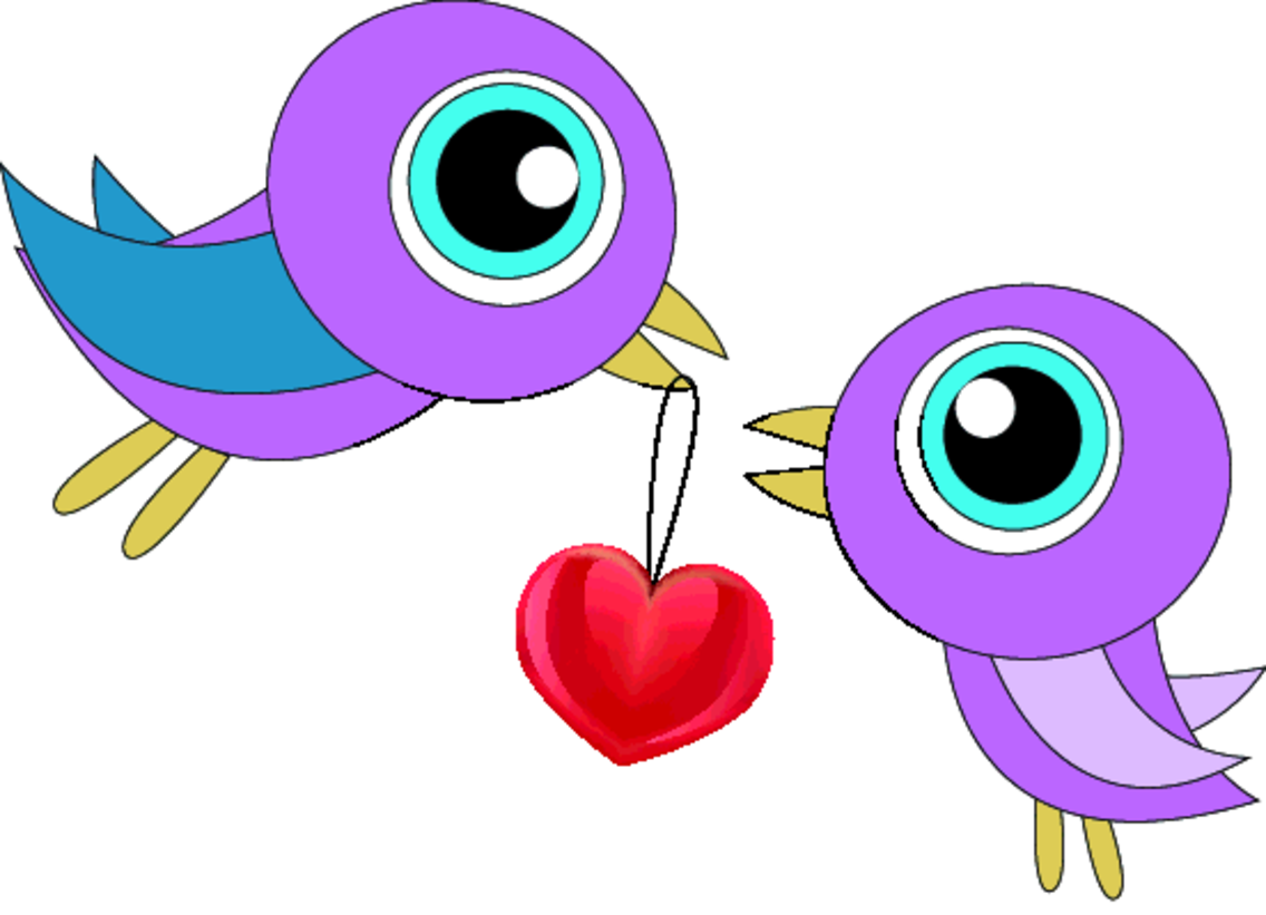 Free Vector Valentine Birdies in Love