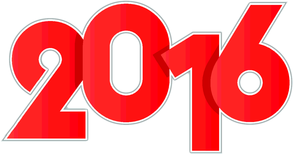 Free Vector Red New Year 2016 Digits