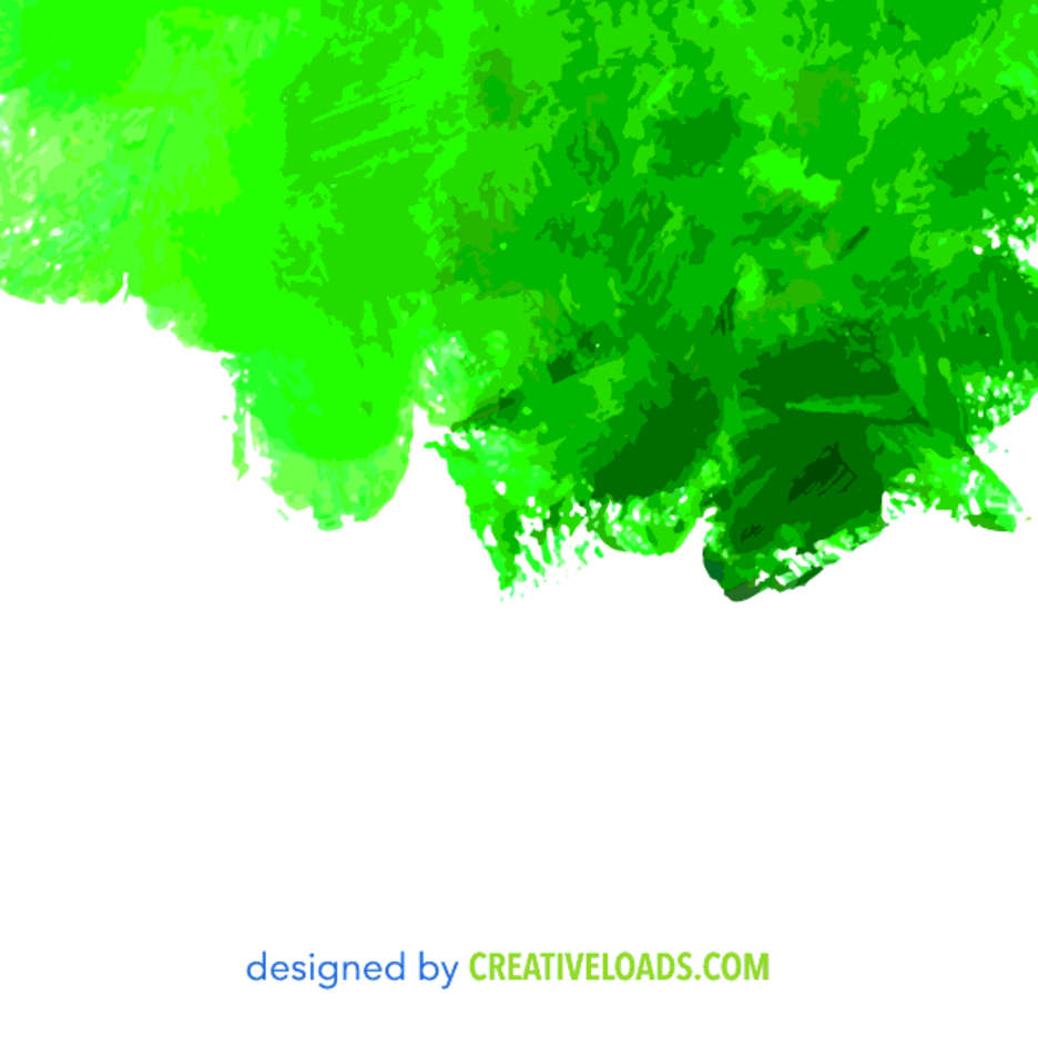 Free Vector Green Watercolor Painted Texture