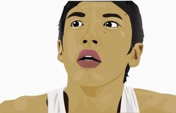artist's face vector