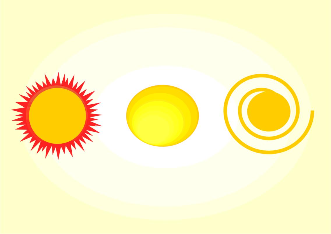Vintage sun vector
