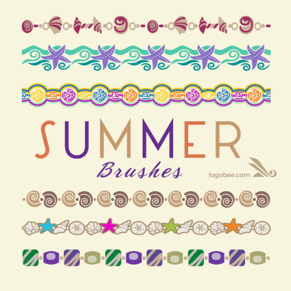 Illustrator Brushes - Summer Collection