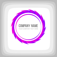 Round Corporate Purple Logo