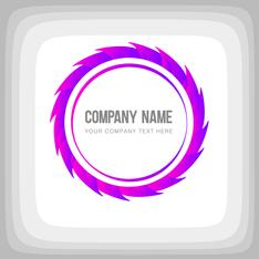 Round Corporate Purple Logo