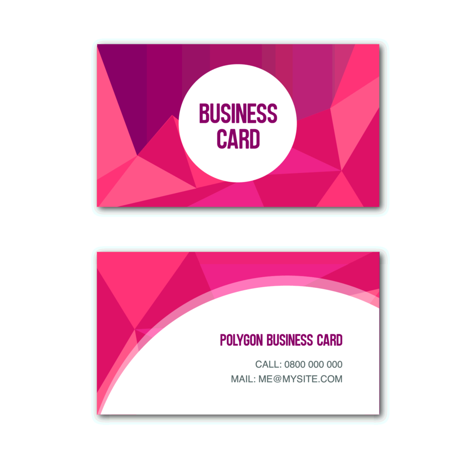 Red Polygon Business Card