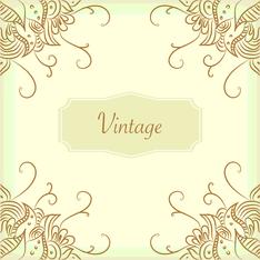 vintage corner swirls
