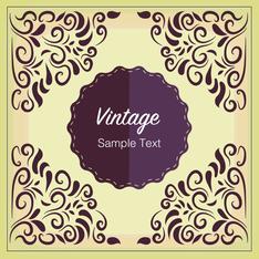 vintage floral badge design