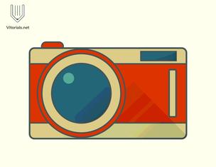 Flat line camera icon