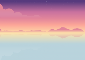 Free illustration of sunset seascape