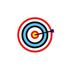 Bull's Eye Vector Icon