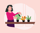 Woman Home Gardening