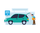 Man Places Item Into Car Trunk