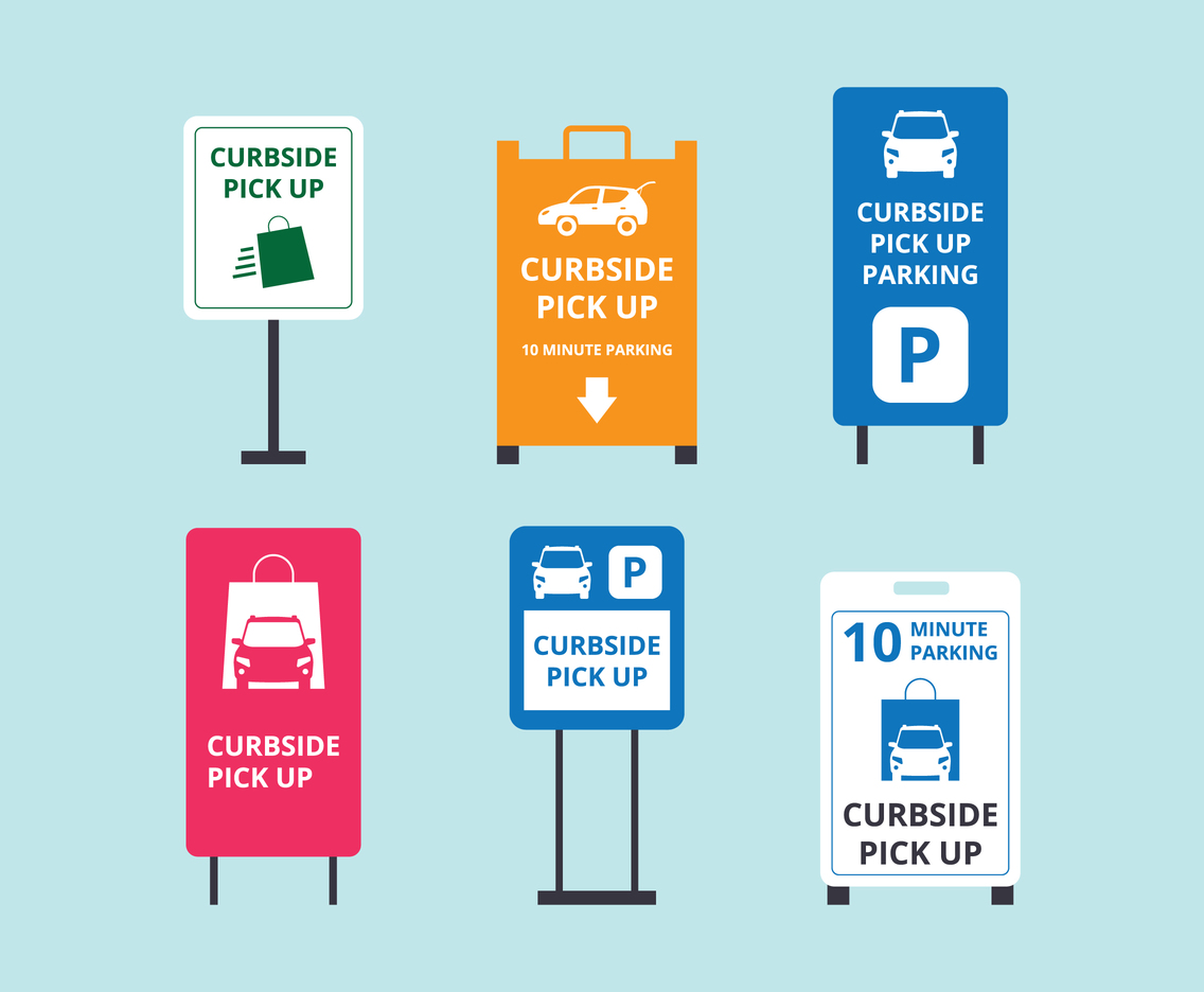 Curbside Pickup Signs