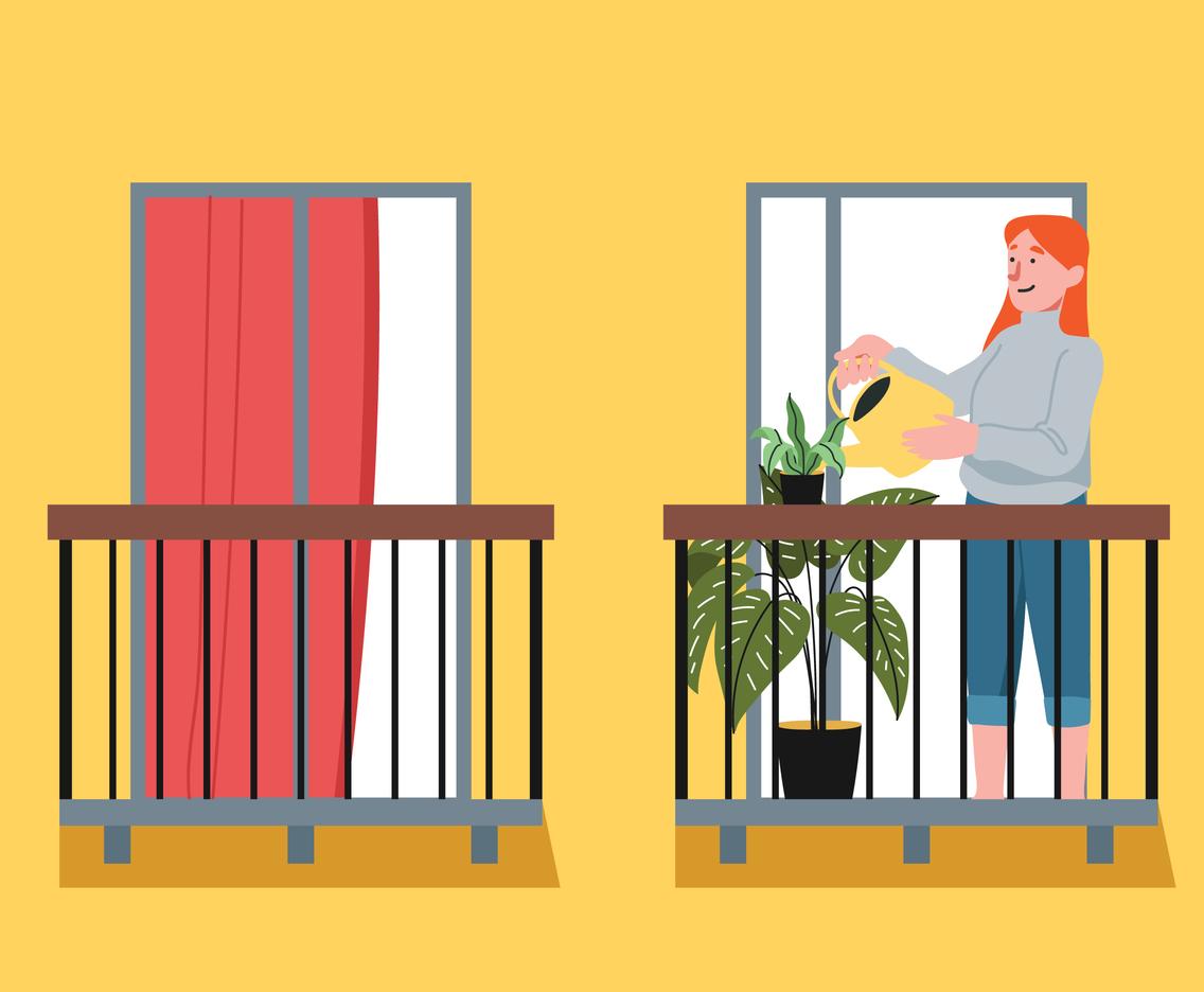 Gardening on Balcony